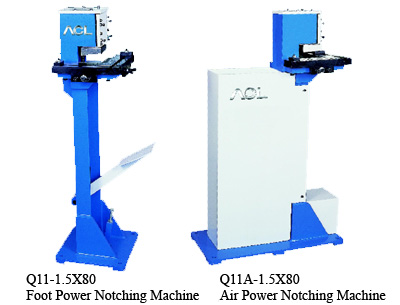Foot Power, Air Power Notching Machine